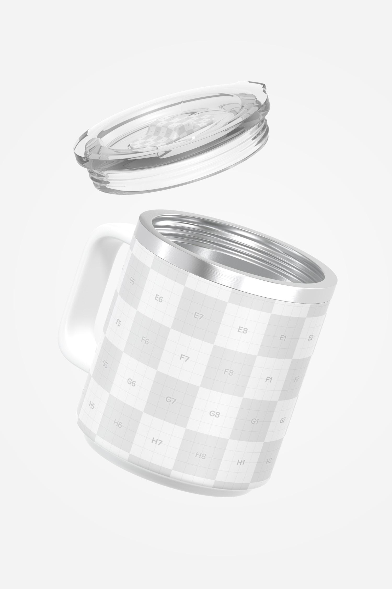 10 oz Stackable Mug Mockup, Floating