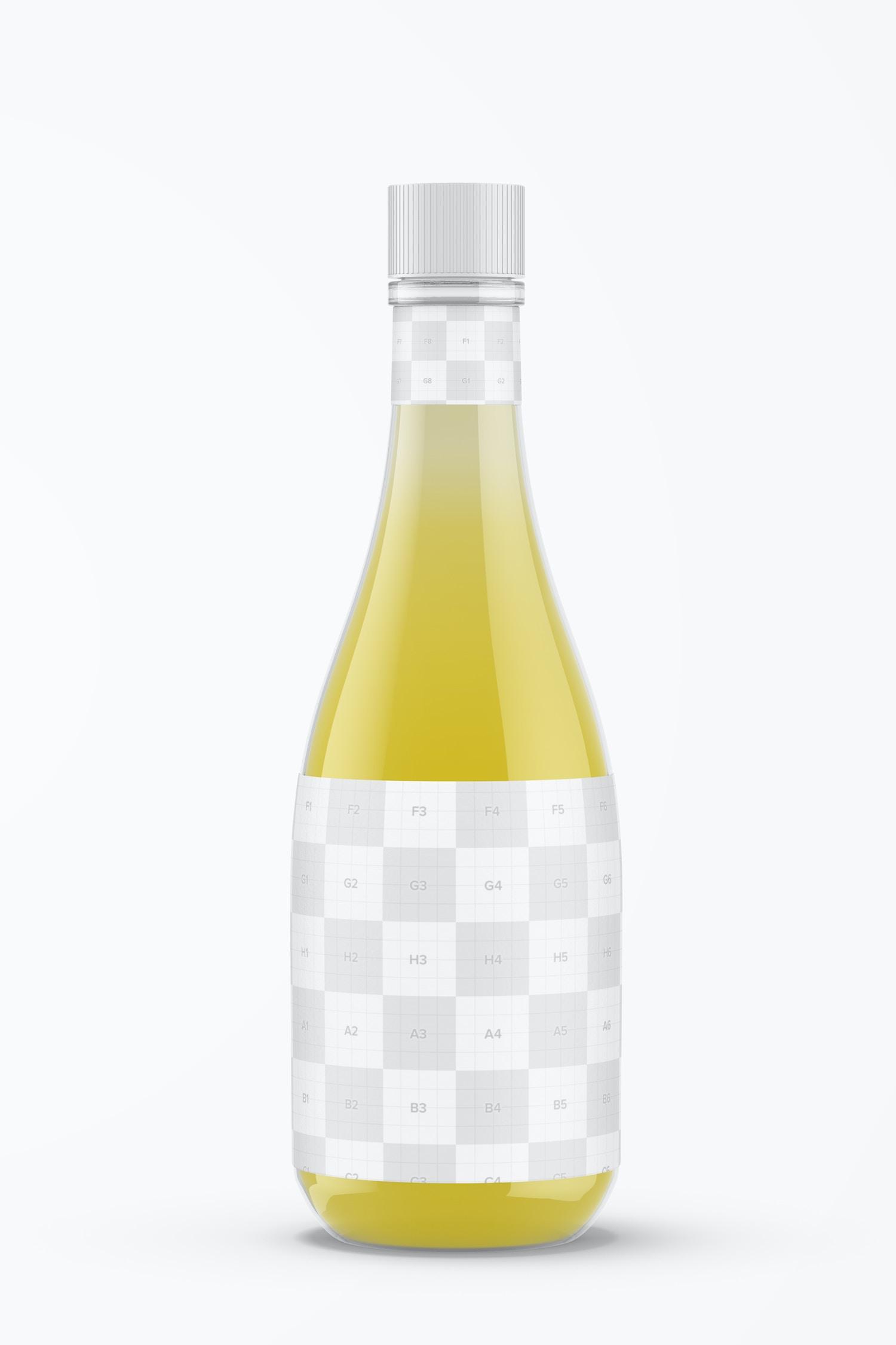 14.5 oz Lemon Vinaigrette Bottle Mockup, Front View