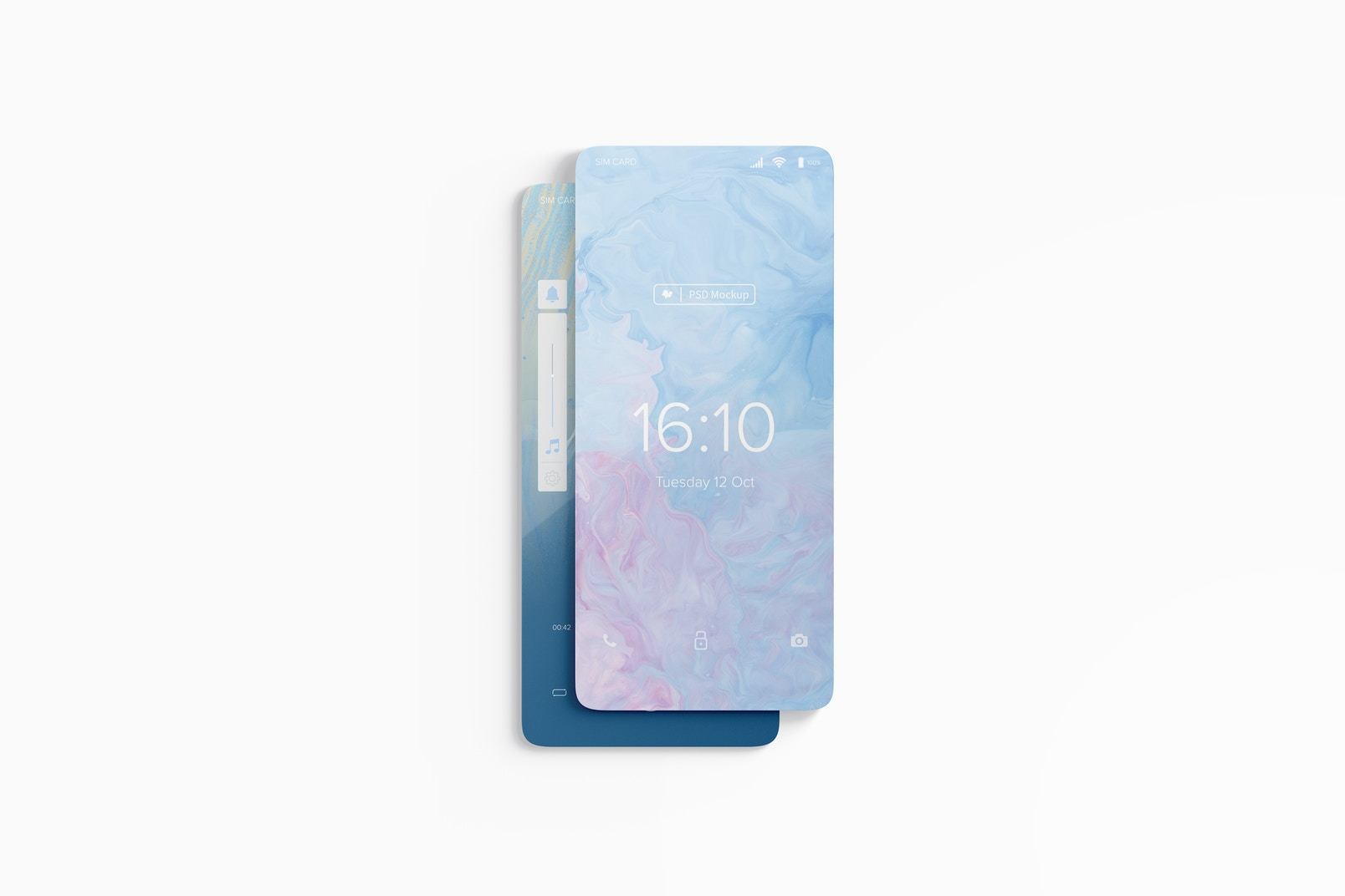 Smartphone Screens Mockup, Floating
