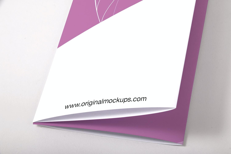 Legal Quadfold Brochure PSD Mockup 03 por Original Mockups en Original Mockups