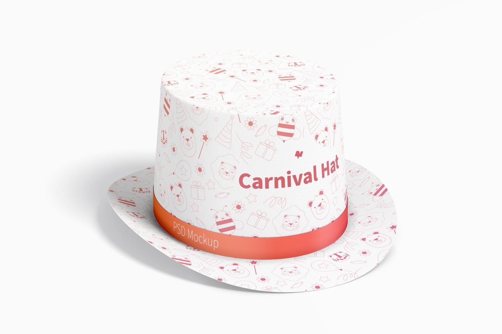 Carnival Hat Mockup, Perspective