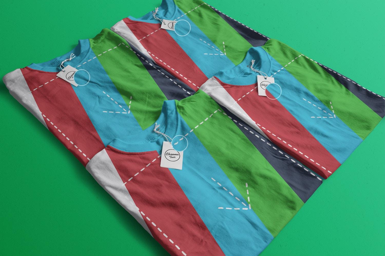 Folded T-Shirts Mockup 04
