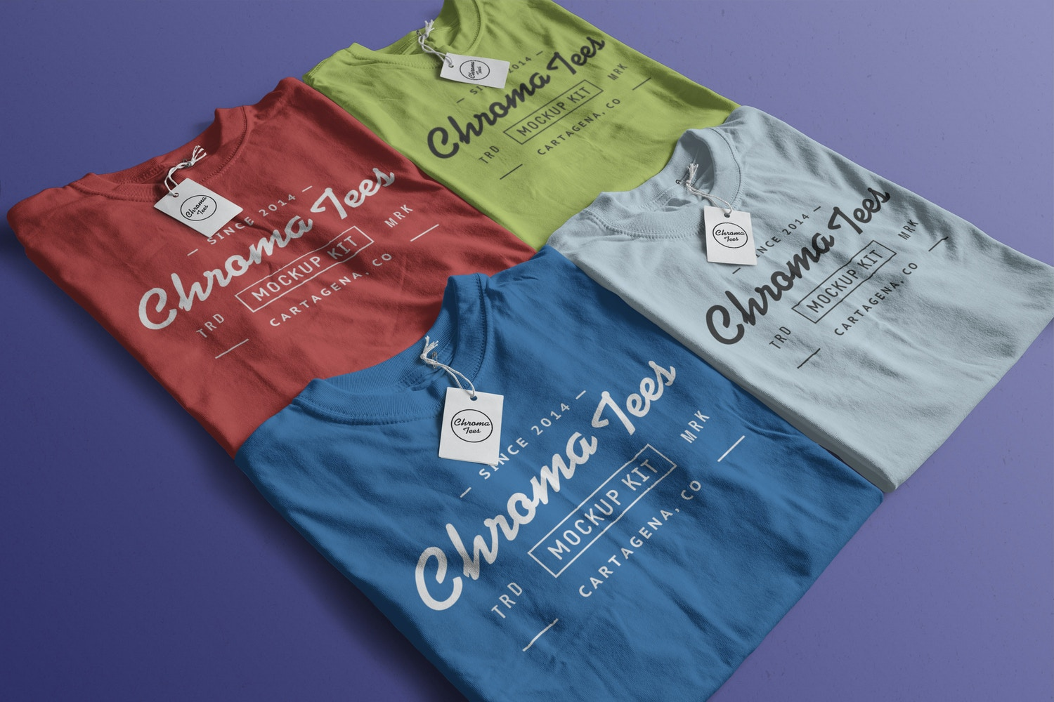 Folded T-Shirts Mockup 04 by Antonio Padilla on Original Mockups