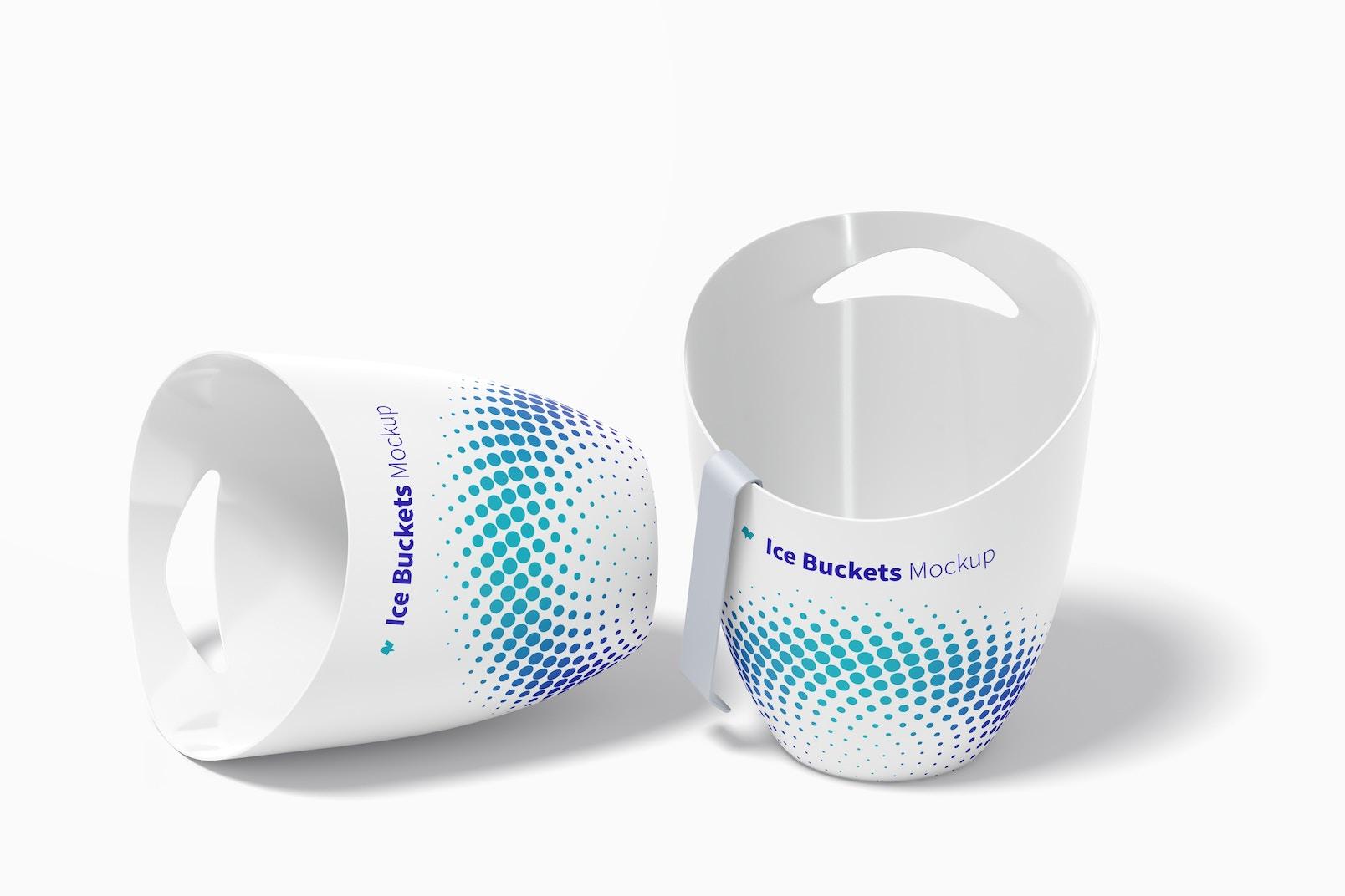 Ice Buckets Mockup