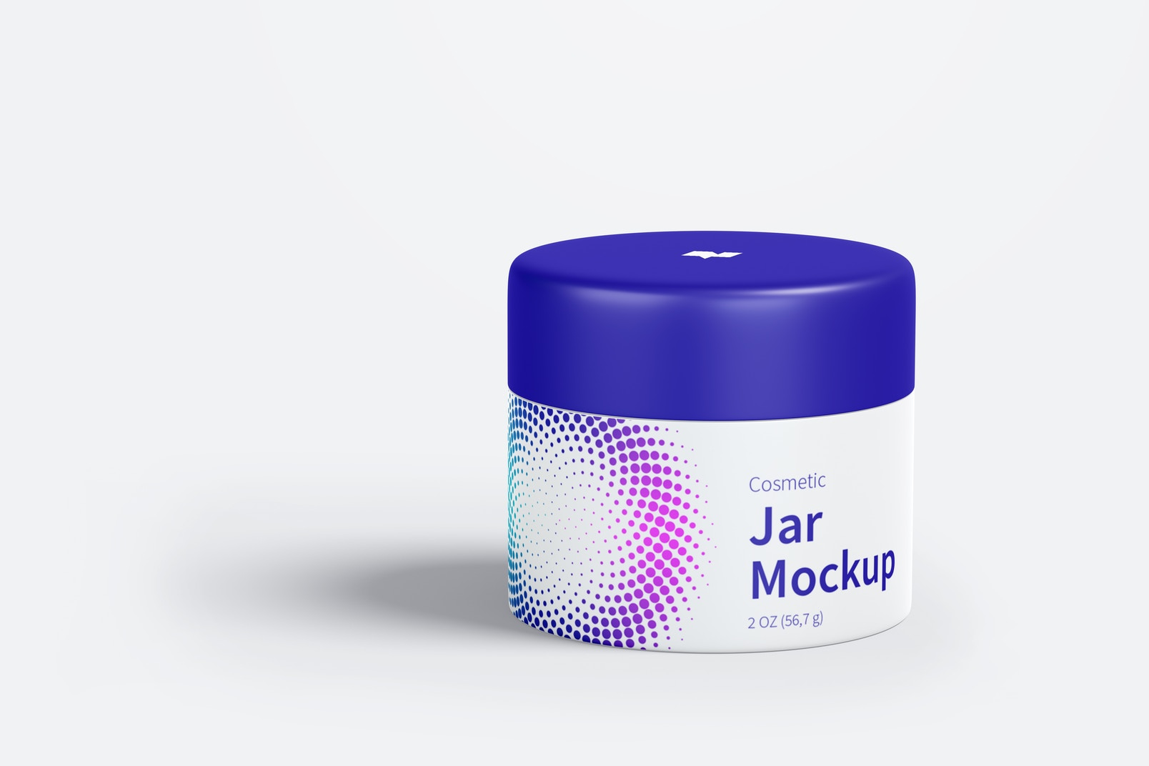 Cosmetic Jar Mockup, Front View 02