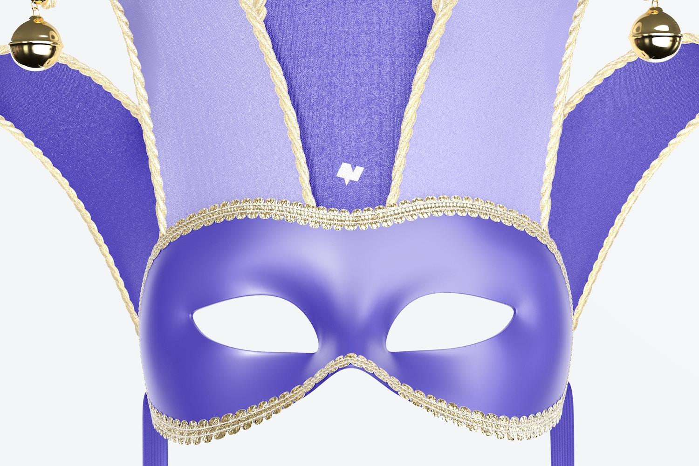 Jester Half-Face Mask Mockup