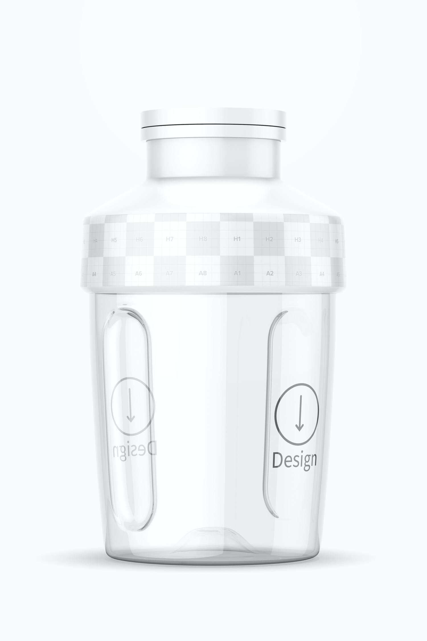 Small Blender Bottle Mockup, Front View