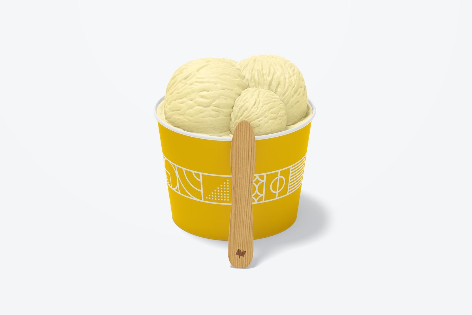 3 oz Paper Ice Cream Cup Mockup