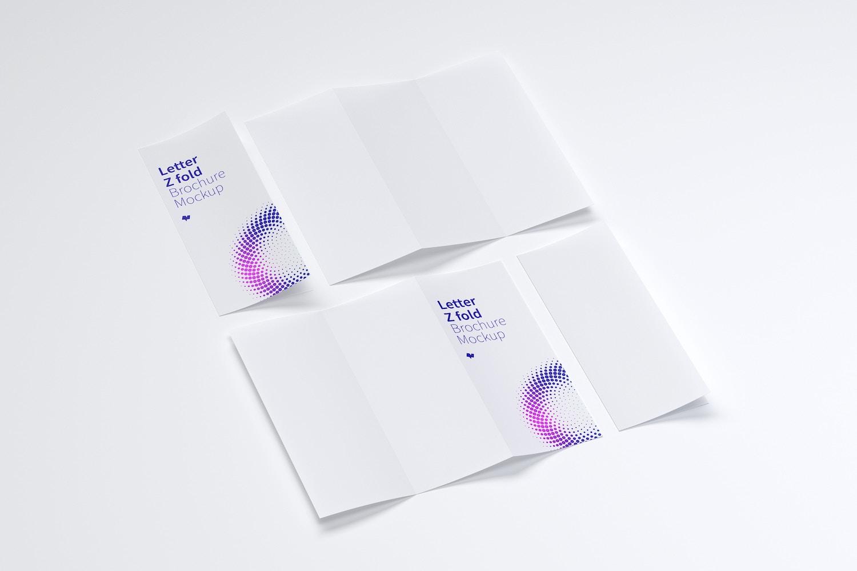 Letter Z Fold Brochure Mockup 04 by Original Mockups on Original Mockups