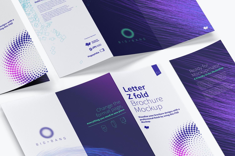 Letter Z Fold Brochure Mockup 04 (4) by Original Mockups on Original Mockups