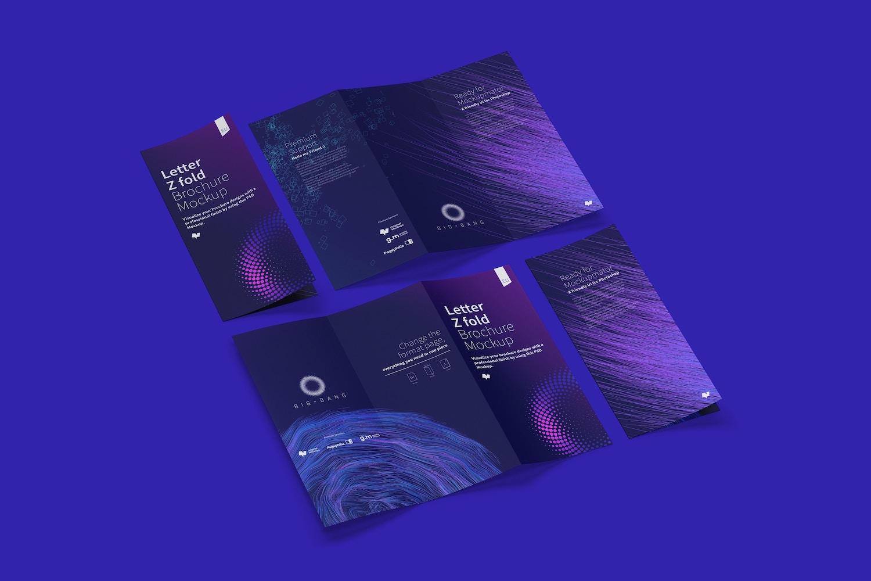 Letter Z Fold Brochure Mockup 04 (6) by Original Mockups on Original Mockups
