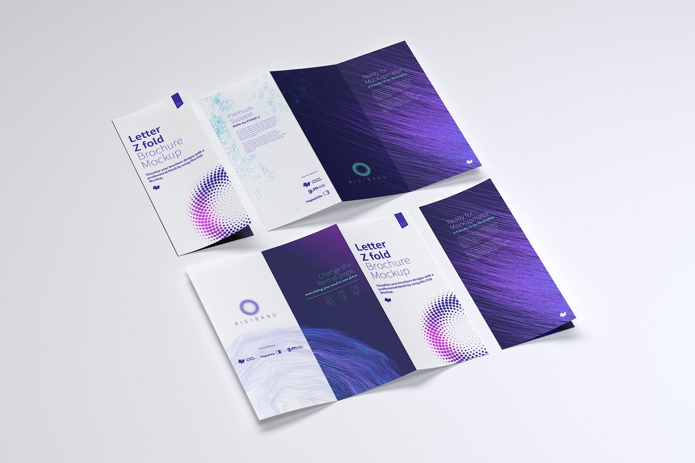 Letter Z Fold Brochure Mockup 04 (2) by Original Mockups on Original Mockups