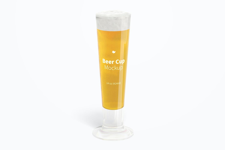 14 oz Glass Beer Cup Mockup