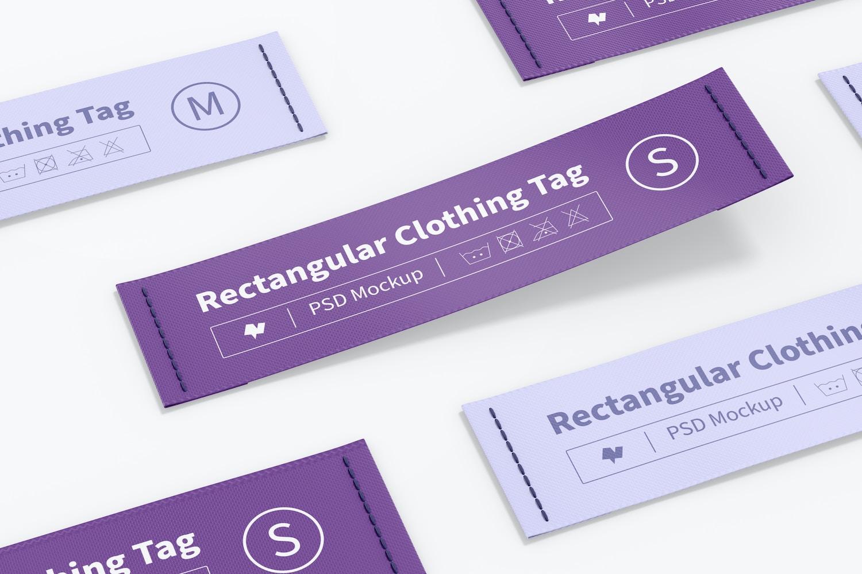 Rectangular Clothing Tags Set Mockup