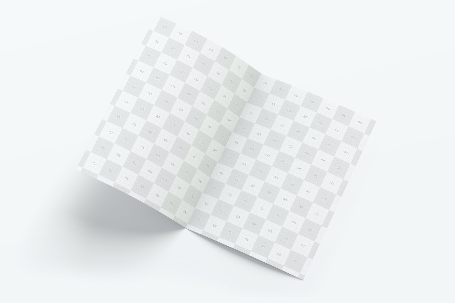 A7 Greeting Card Mockup, Spread Interior Pages