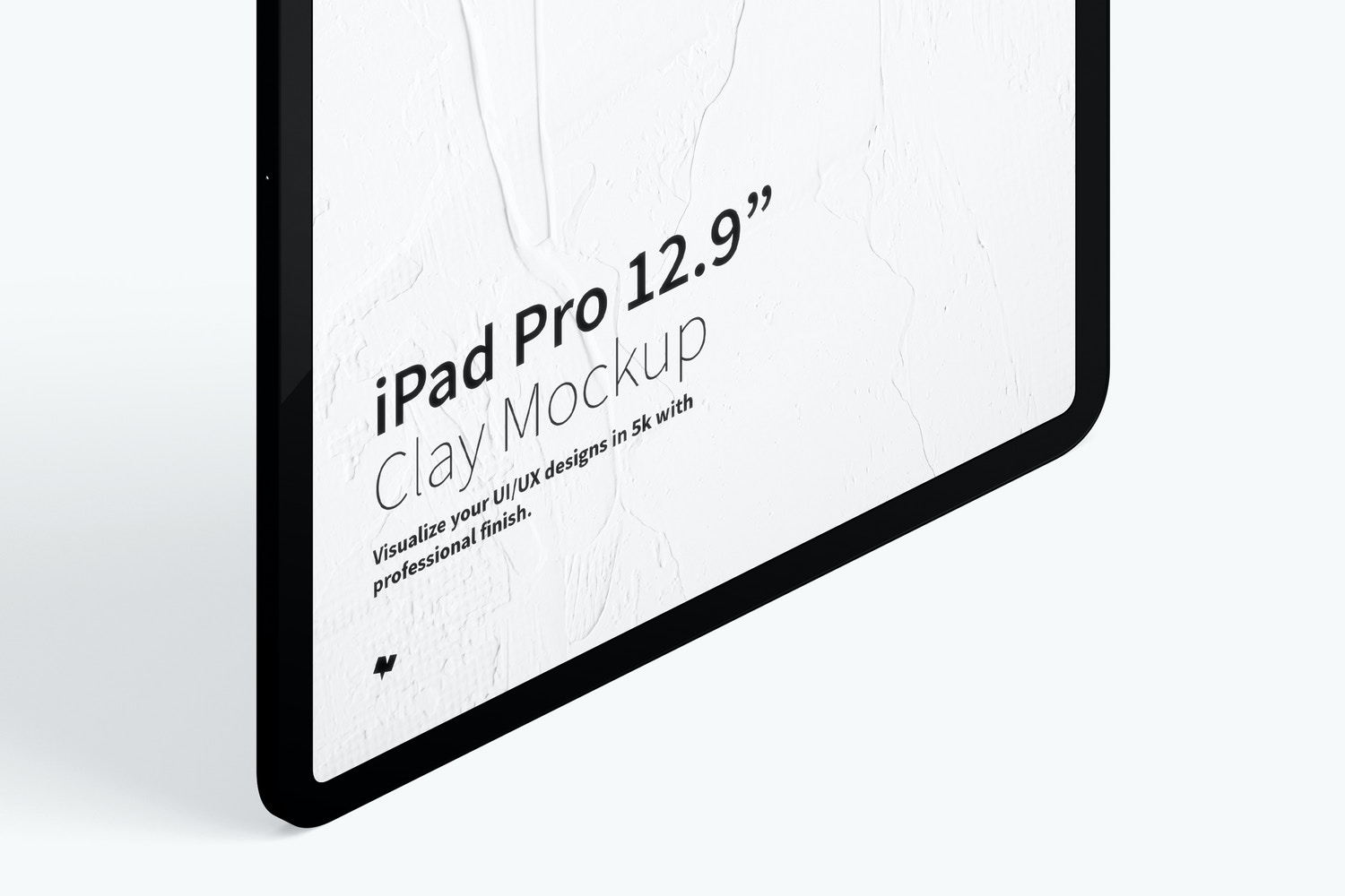 "Clay iPad Pro 12.9"" Mockup, Isometric Right View 02 (3) by Original Mockups on Original Mockups"