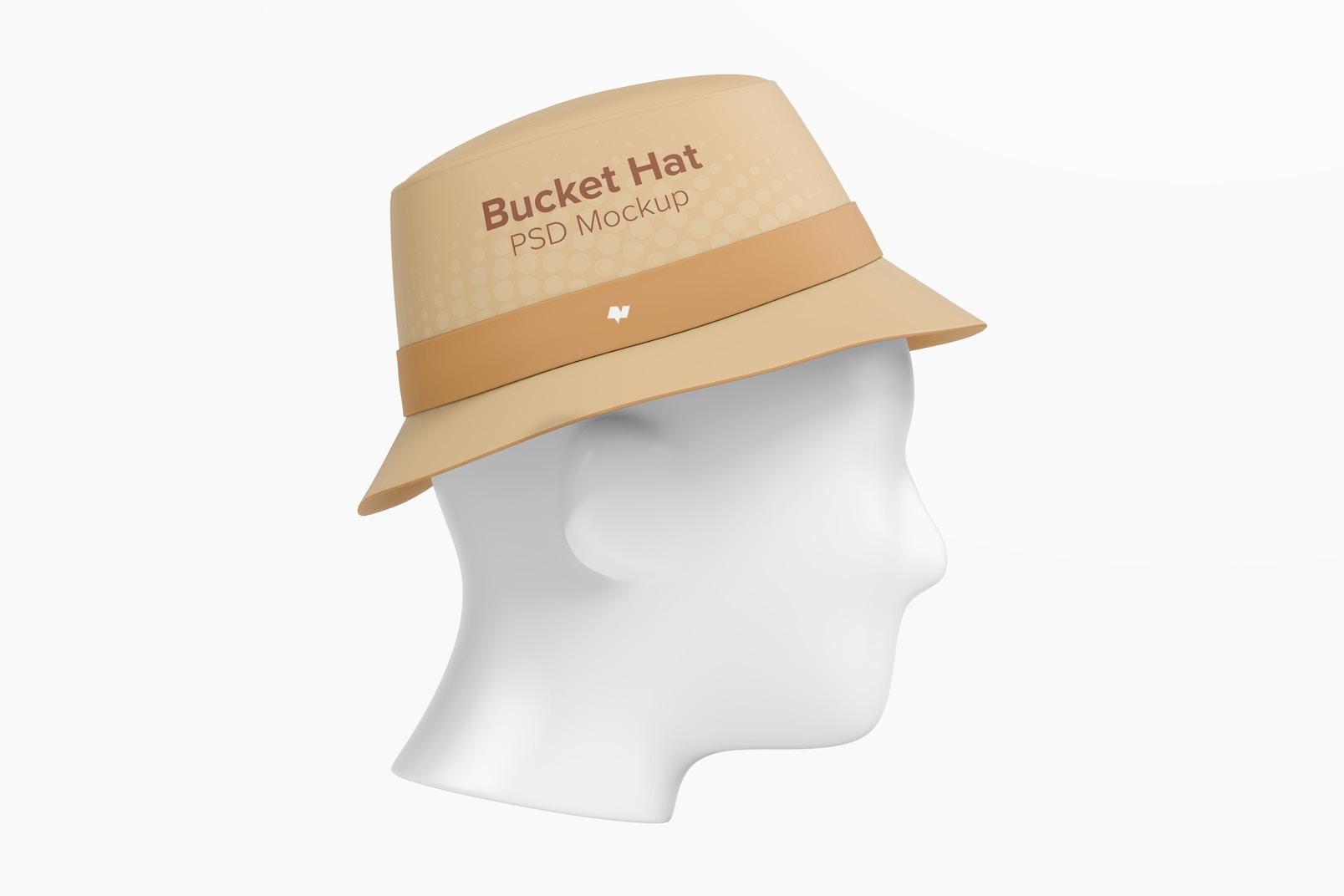 Bucket Hat Mockup, Left View