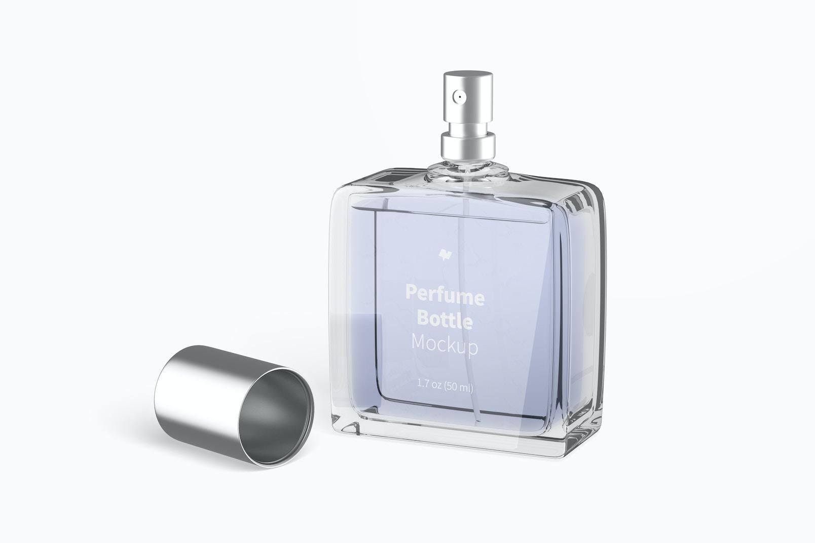 Perfume Bottle Mockup, Opened