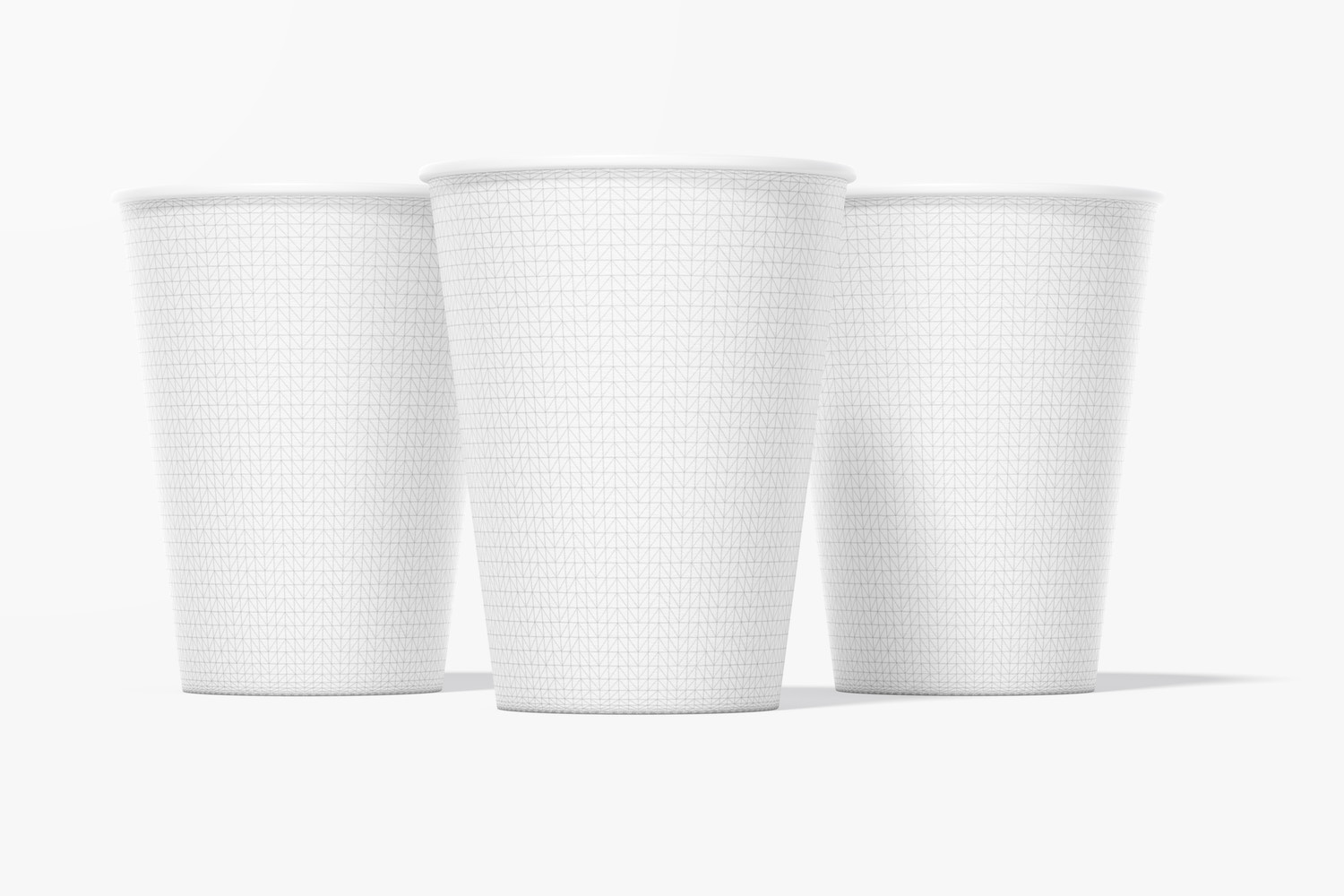 Paper Cups Mockup, Front View
