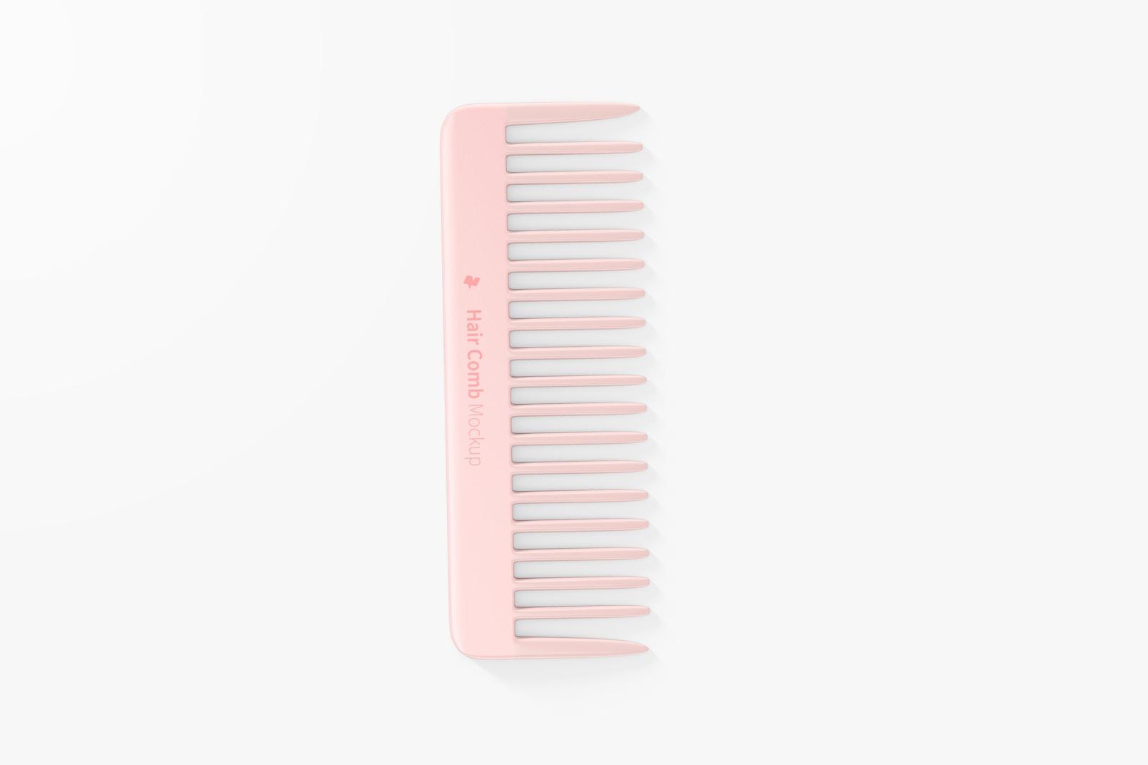 Hair Comb Mockup, Top View