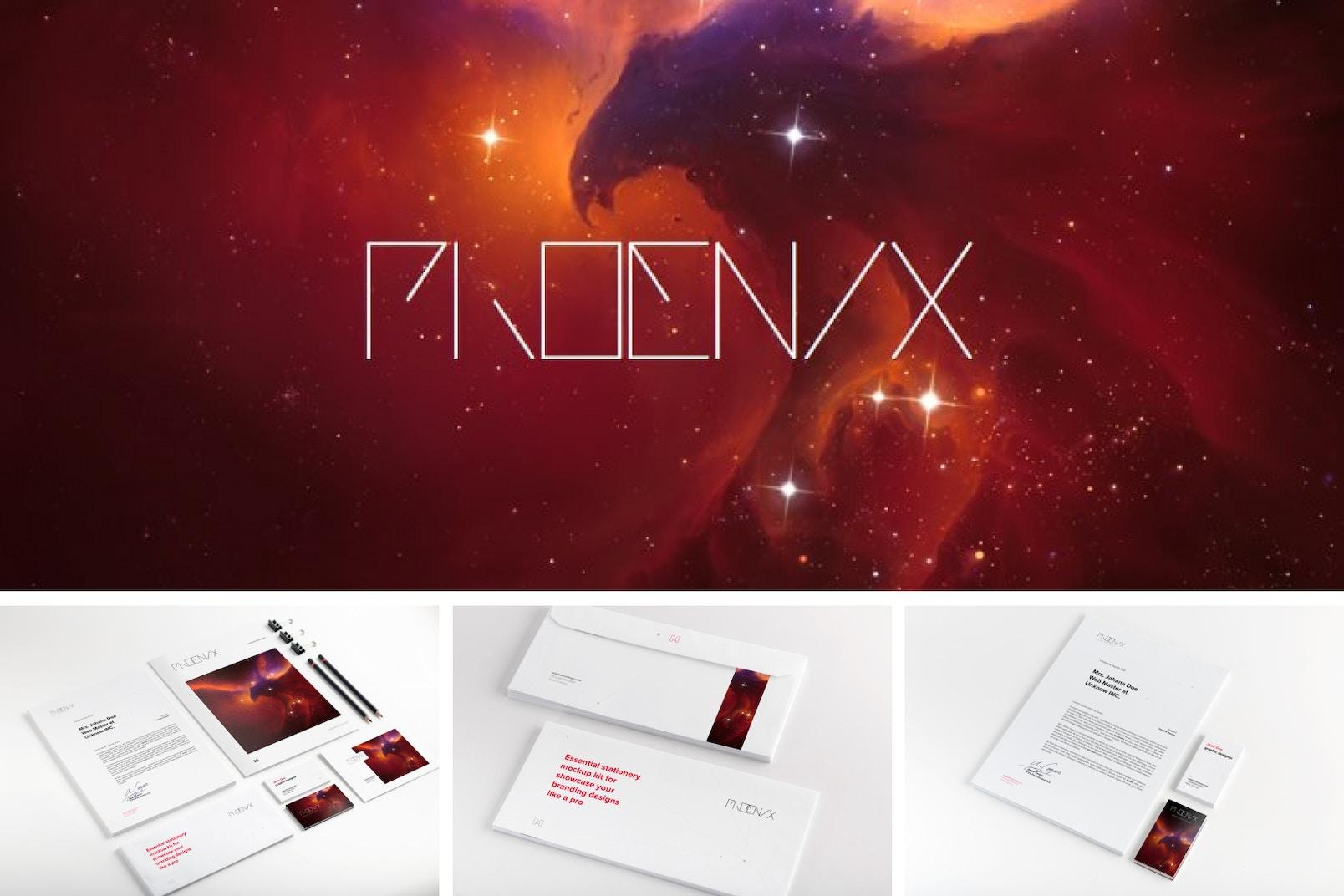 Phoenix Mockup Kit Poster