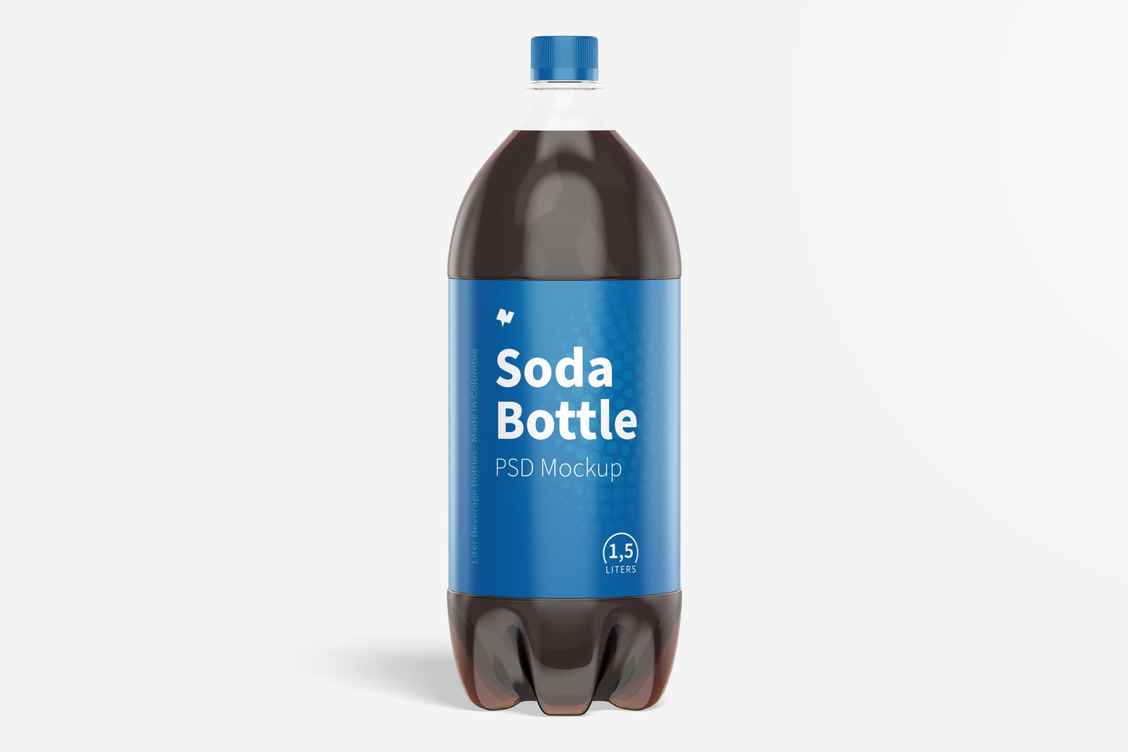 1.5L Pepsi Bottle Mockup, Front View