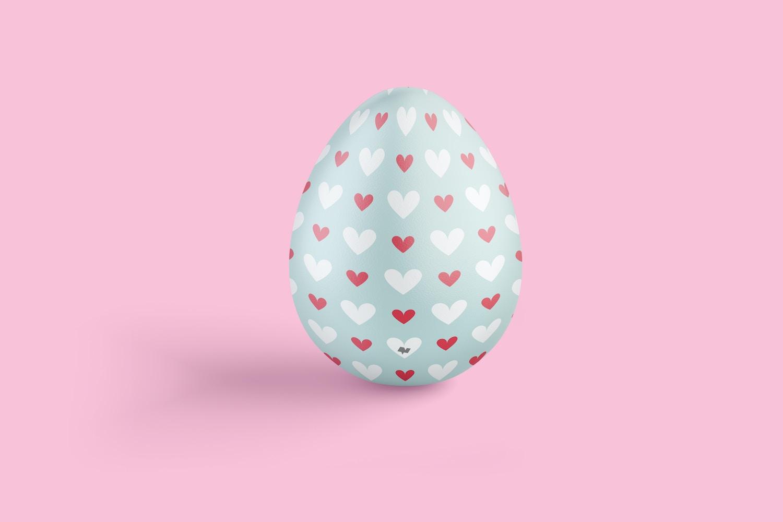Easter Egg Mockup, Front View
