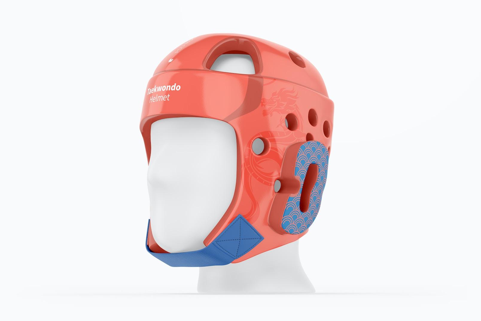 Taekwondo Helmet Mockup, Right View