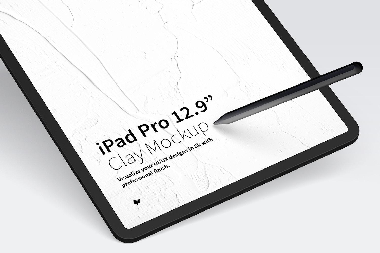 "Clay iPad Pro 12,9"" Mockup (3) by Original Mockups on Original Mockups"