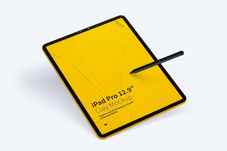 "Clay iPad Pro 12,9"" Mockup (4) by Original Mockups on Original Mockups"