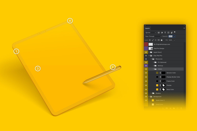 "Clay iPad Pro 12,9"" Mockup (6) by Original Mockups on Original Mockups"