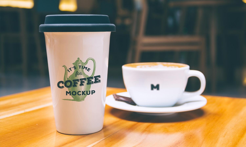 Coffee Mug and Cup Mockup por Original Mockups en Original Mockups