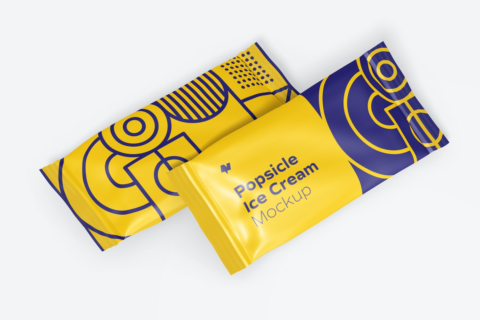 Popsicle Ice Cream Packaging Mockup, Right View