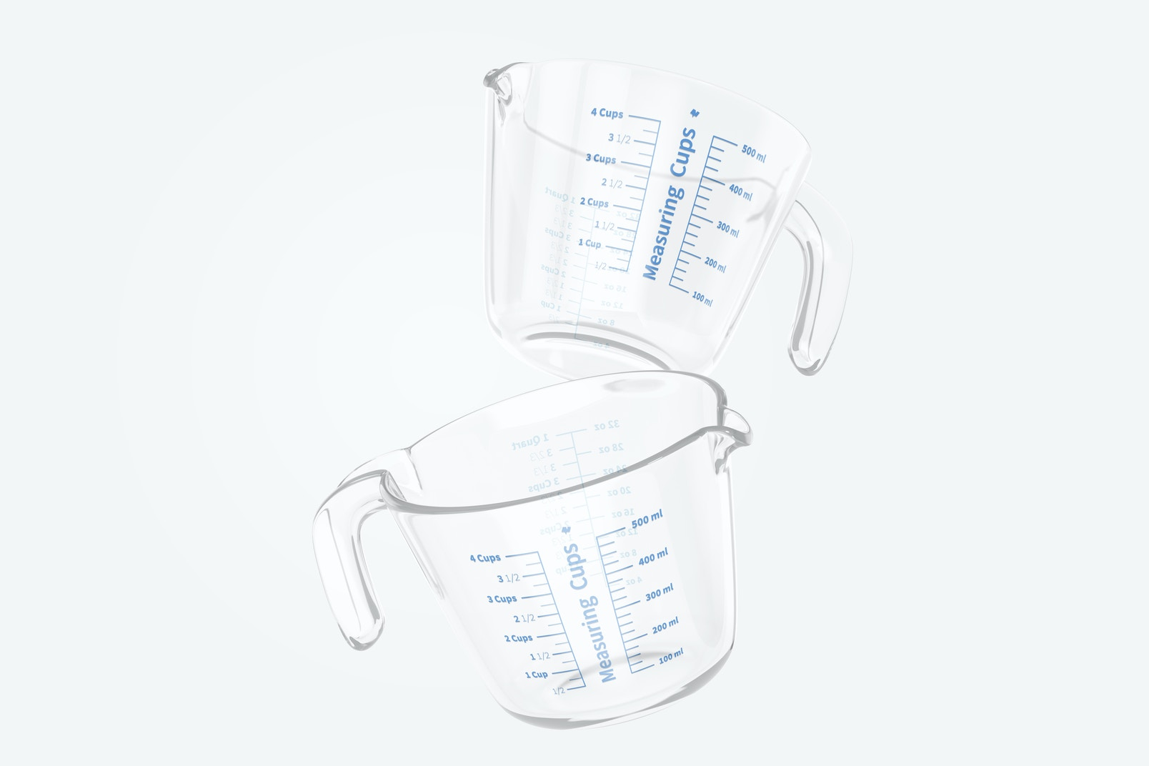 Glass Measuring Cup Mockup, Falling