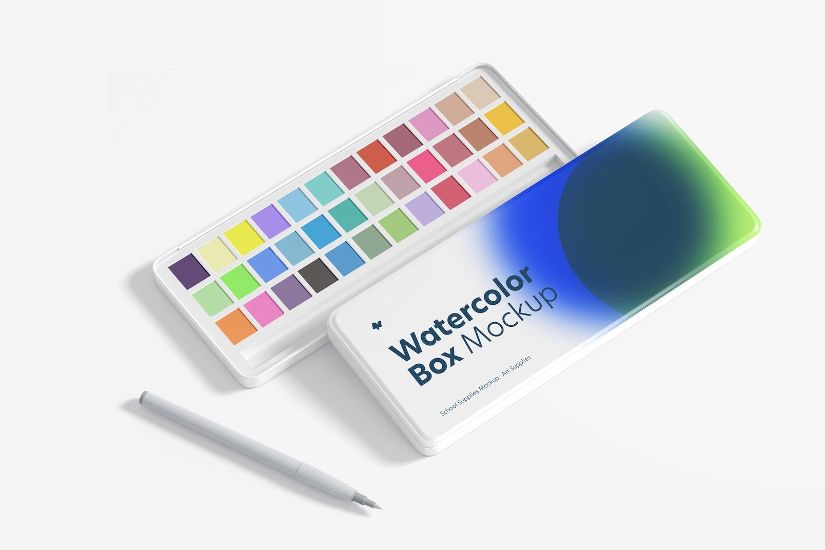 Watercolor Boxes Mockup