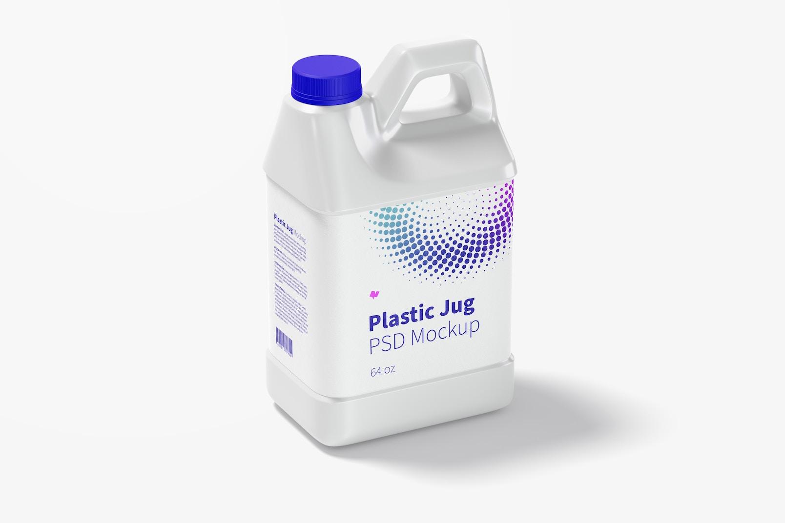 64 oz Plastic Jug Mockup
