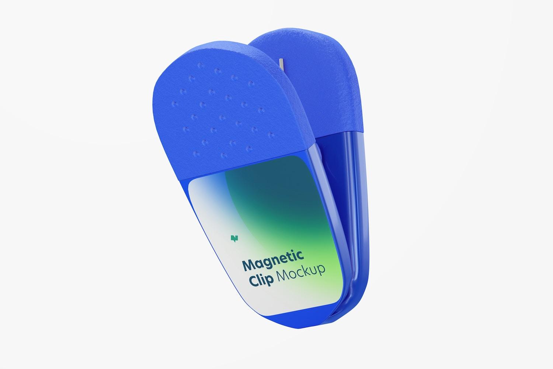 Promotional Magnetic Clip Mockup, Floating
