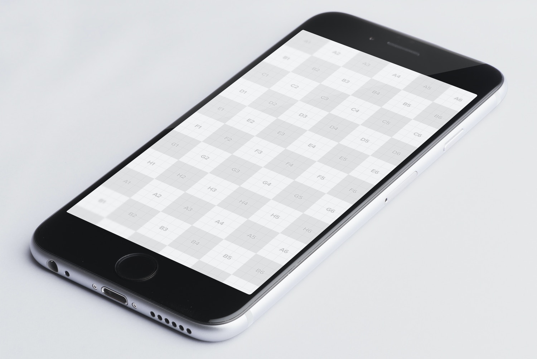 Iphone 6 Spacegray PSD Mockup 01