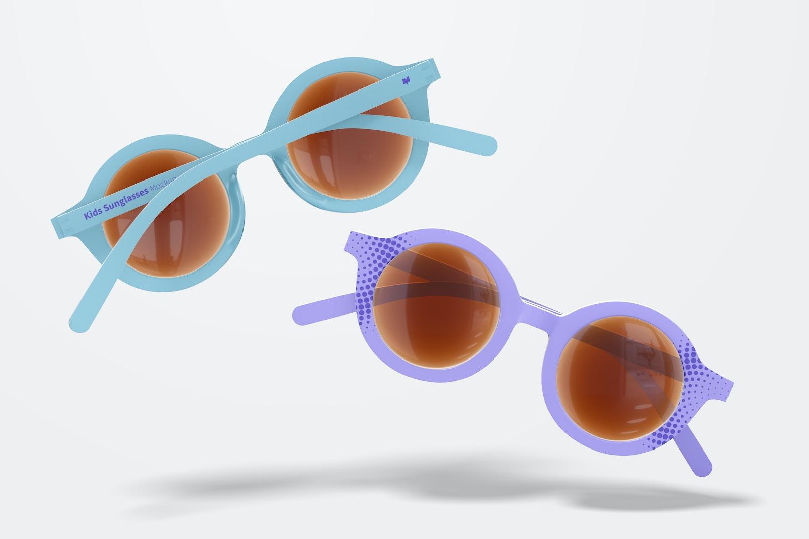 Kids Sunglasses Mockup, Floating