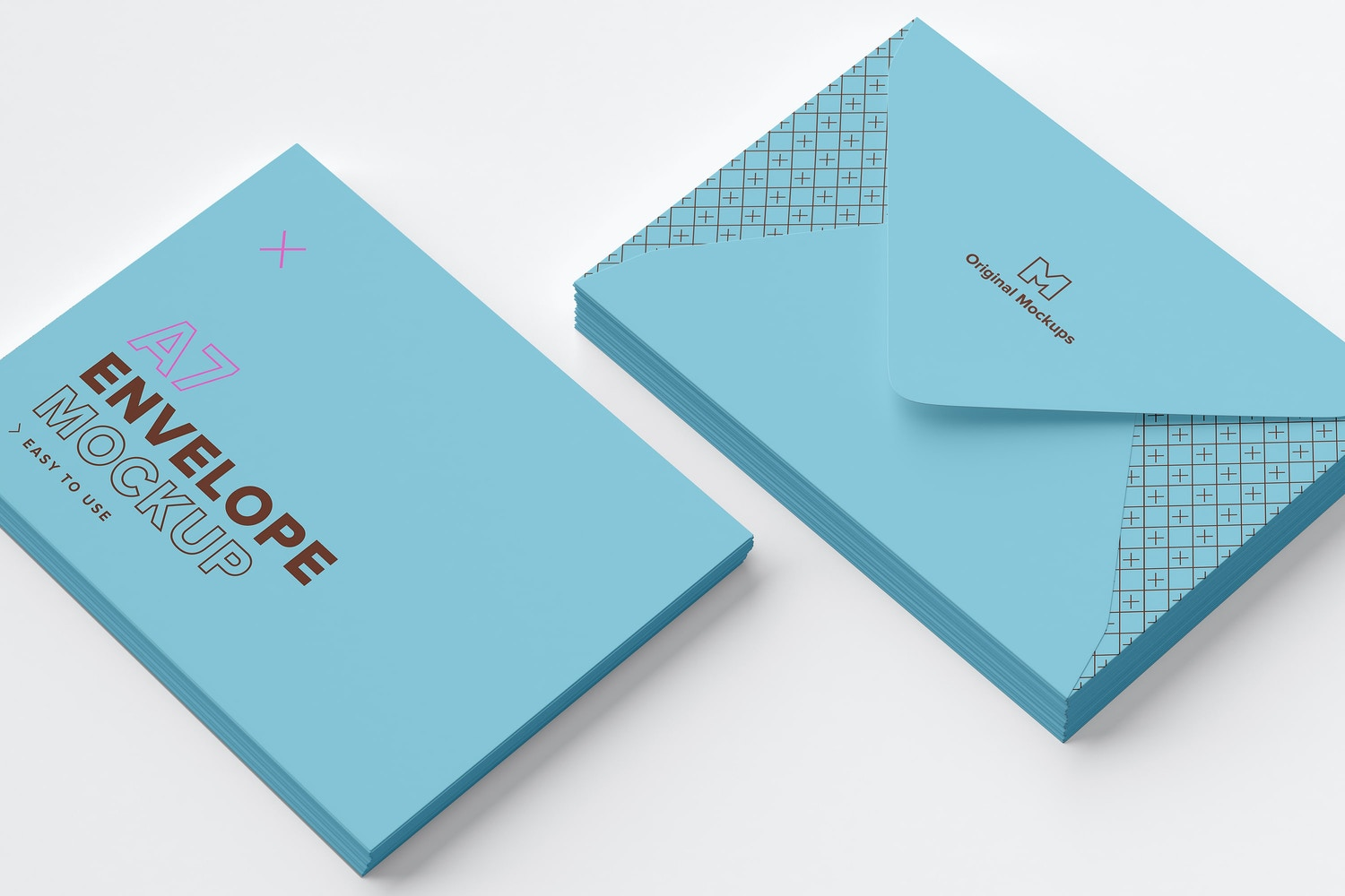A7 Envelope Stacks Mockup 03 by Original Mockups on Original Mockups