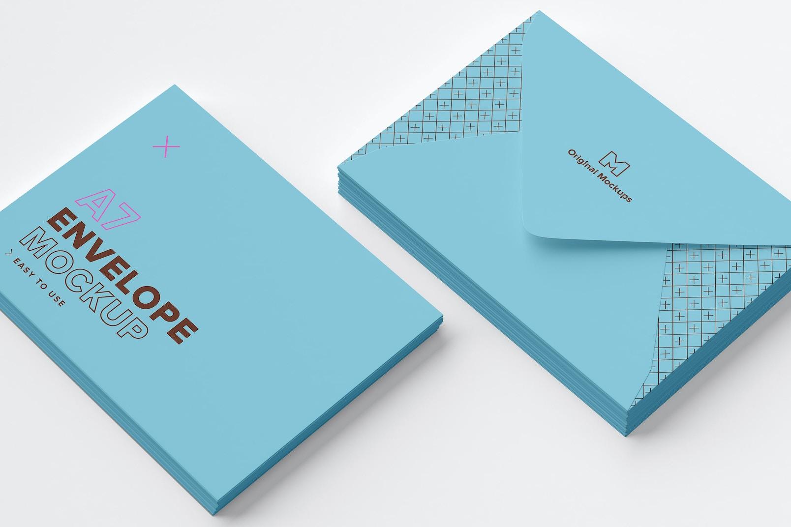 A7 Envelope Stacks Mockup 03