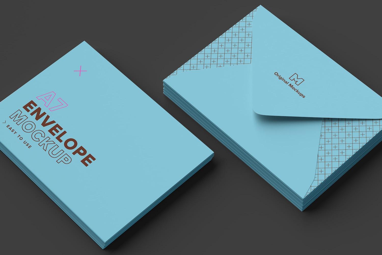 A7 Envelope Stack Mockup 02