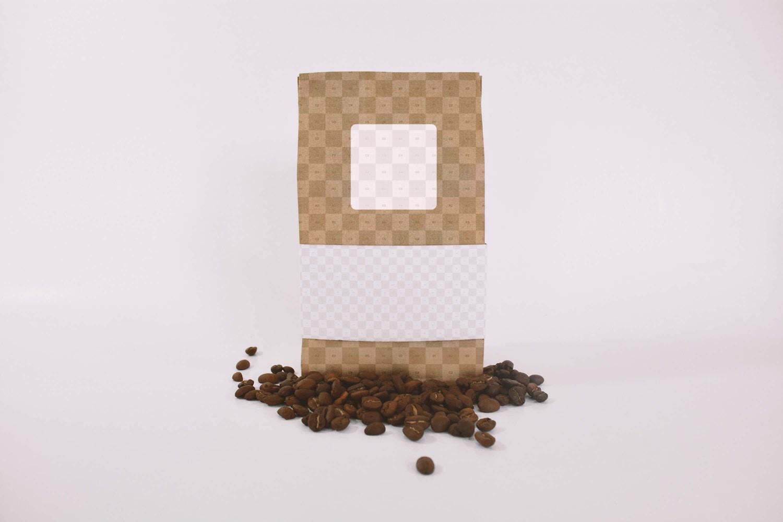 Coffee Bag Mockup Front View (2) by Eduardo Mejia on Original Mockups