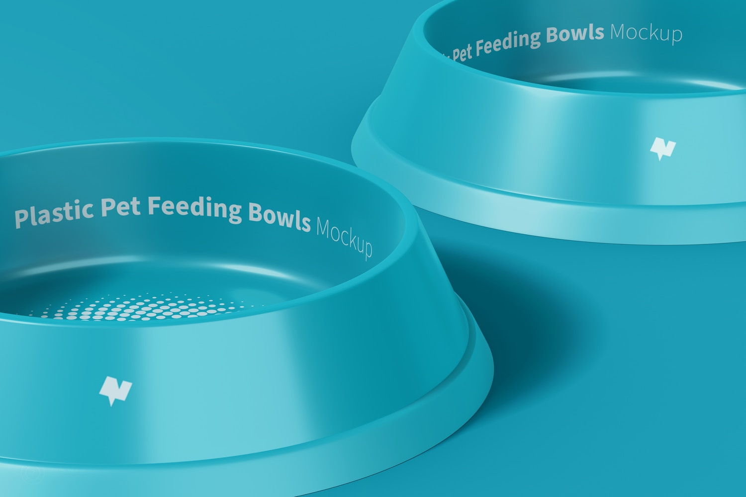You can change the color of the background and the bowls.