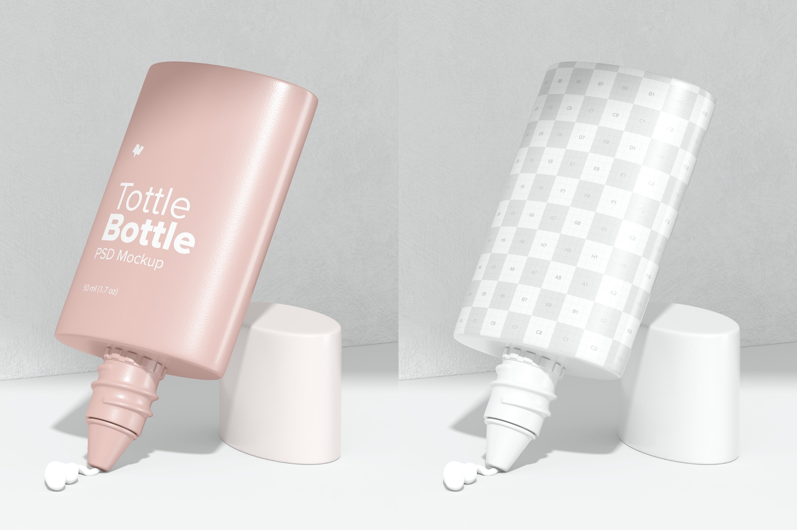 Tottle Bottle Mockup, Opened