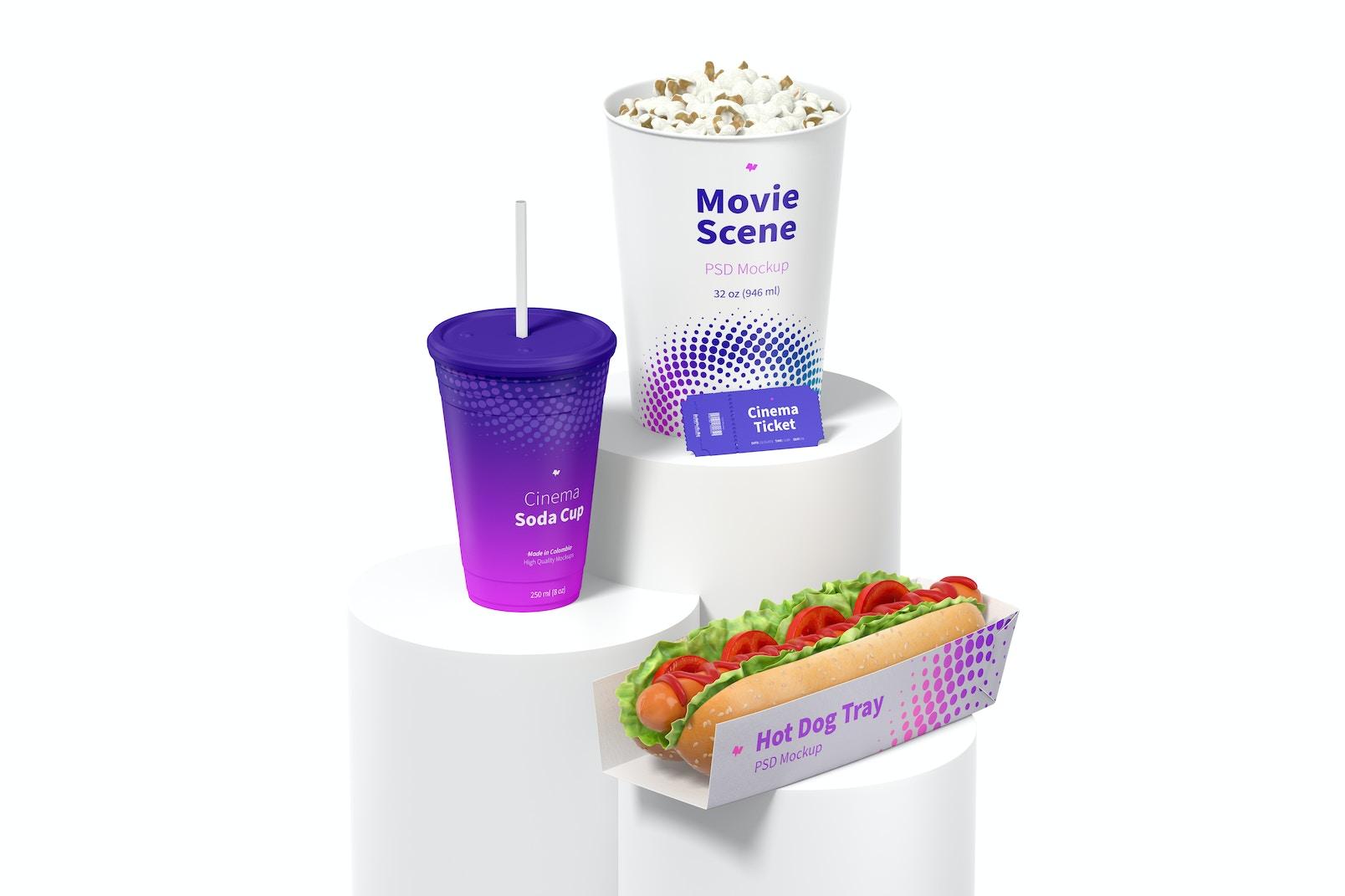 Movie Scene Mockup, Right View