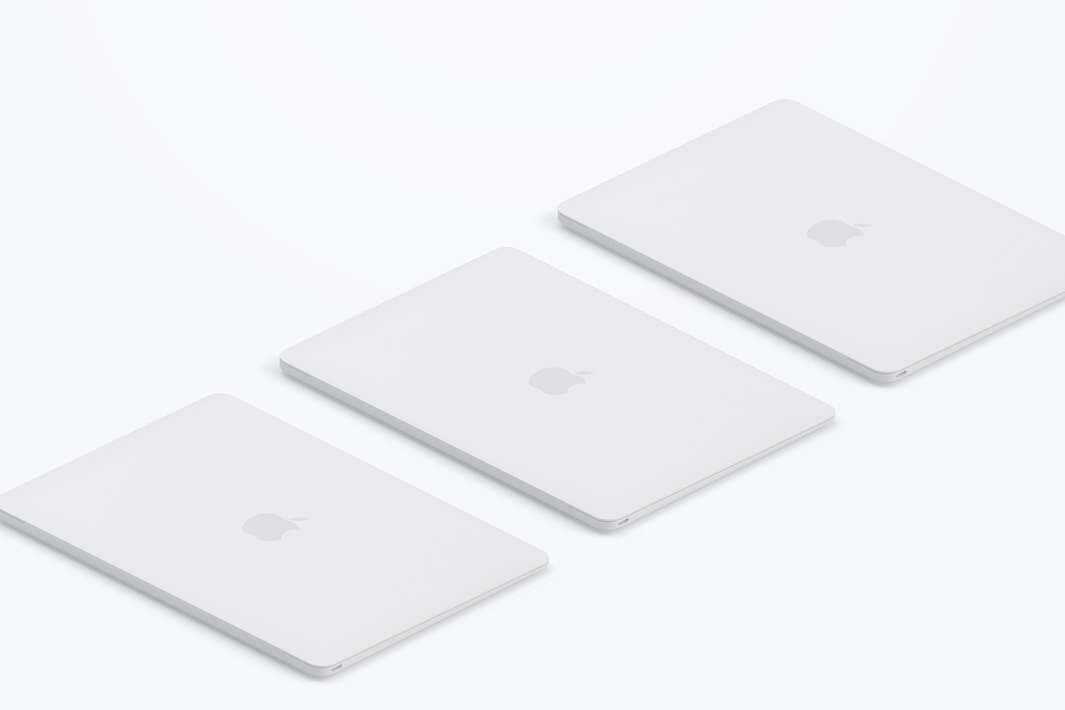 Clay MacBook Mockup, Isometric Right View 03 (3) by Original Mockups on Original Mockups