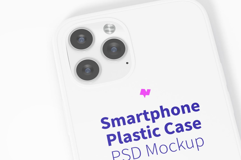 Maqueta de Funda Plástica para iPhone 12, Primer Plano