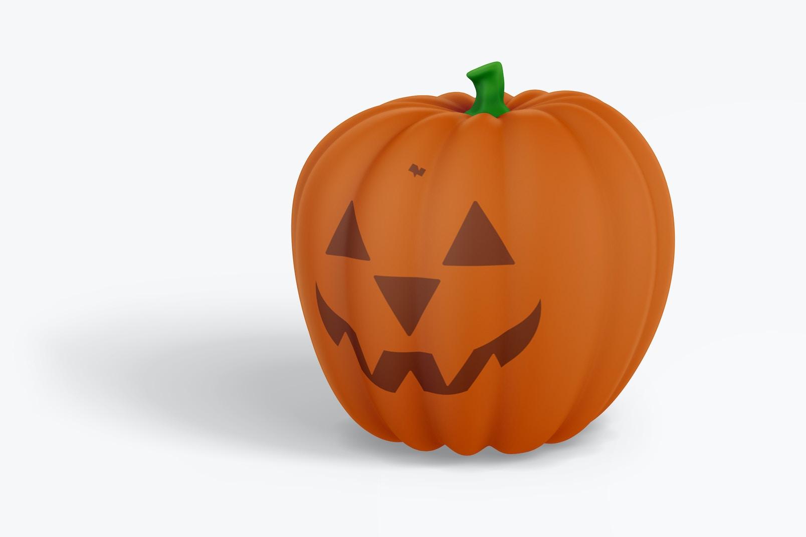 Decorative Pumpkin Mockup, Front View