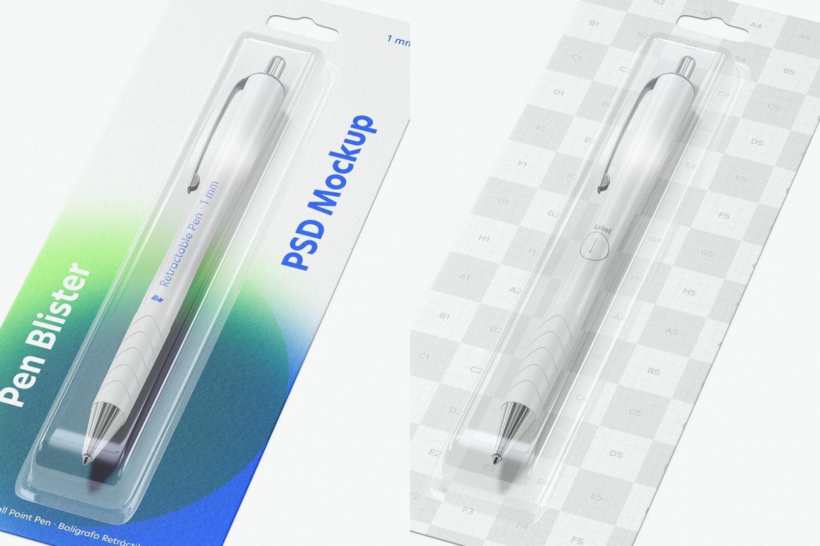Pen Blister Mockup, Close Up